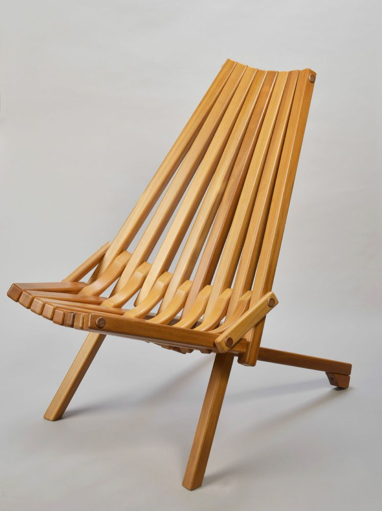 Gorgeous Mid century danish modern Teak wood folding chairMid