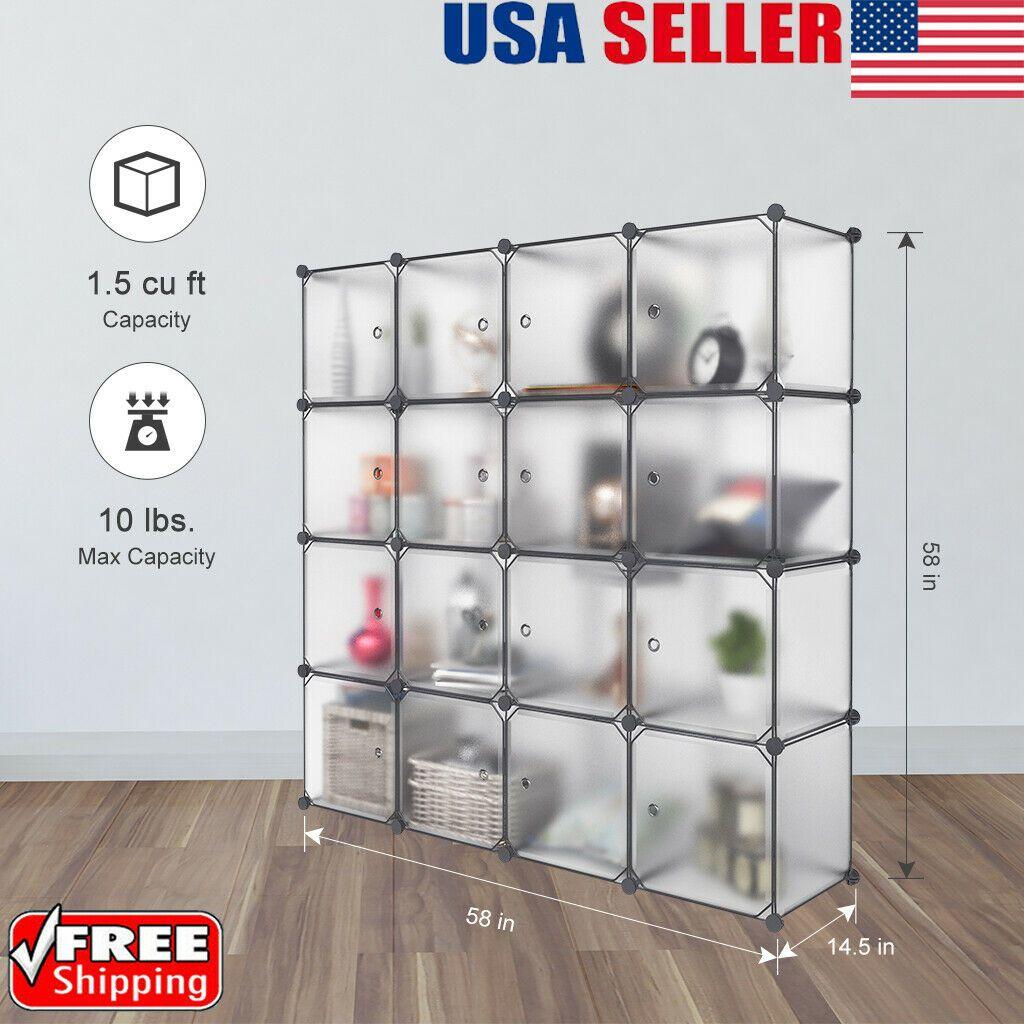 5-Cube DIY Modular Closet Organizer Wardrobe Rack Clothes Shelf Storage Cabinet