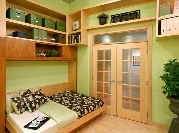 Wall cabinet with folding bed - living ideas for practical wall beds ...