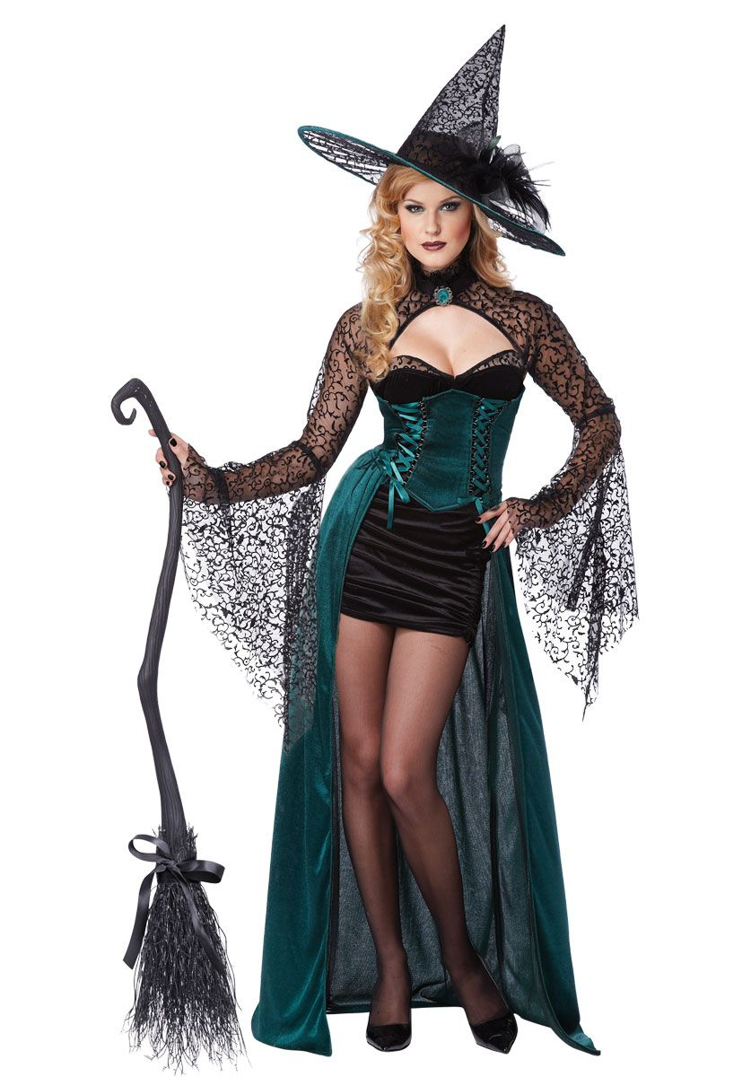 New Wicked Witch of the West Costume Adult Womens Halloween Fancy Dress Outfit