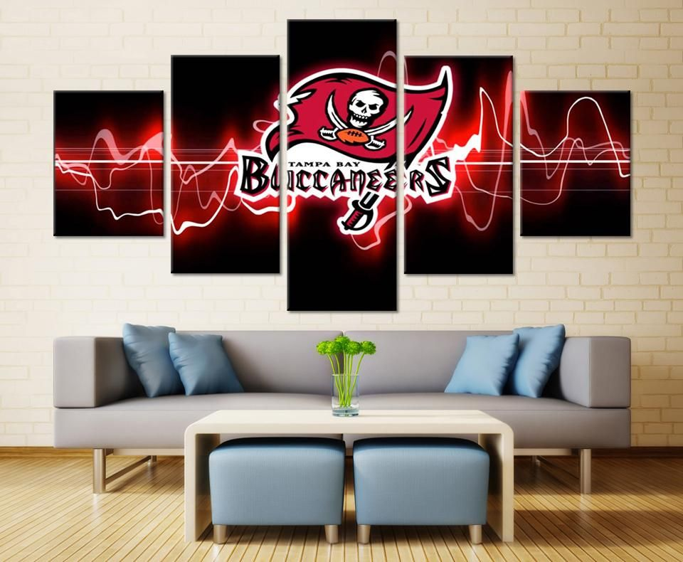 Tampa Bay Buccaneers Nfl Football 5 Panel Canvas Wall Art Home Decor Canvas Wall Decor Canvas Print Wall Canvas Wall Art
