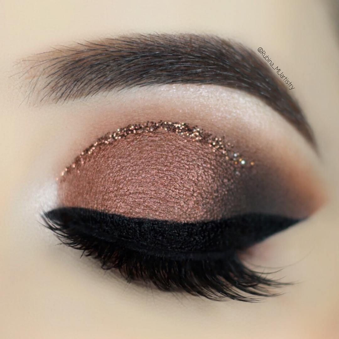 chocolate brown smokey eye