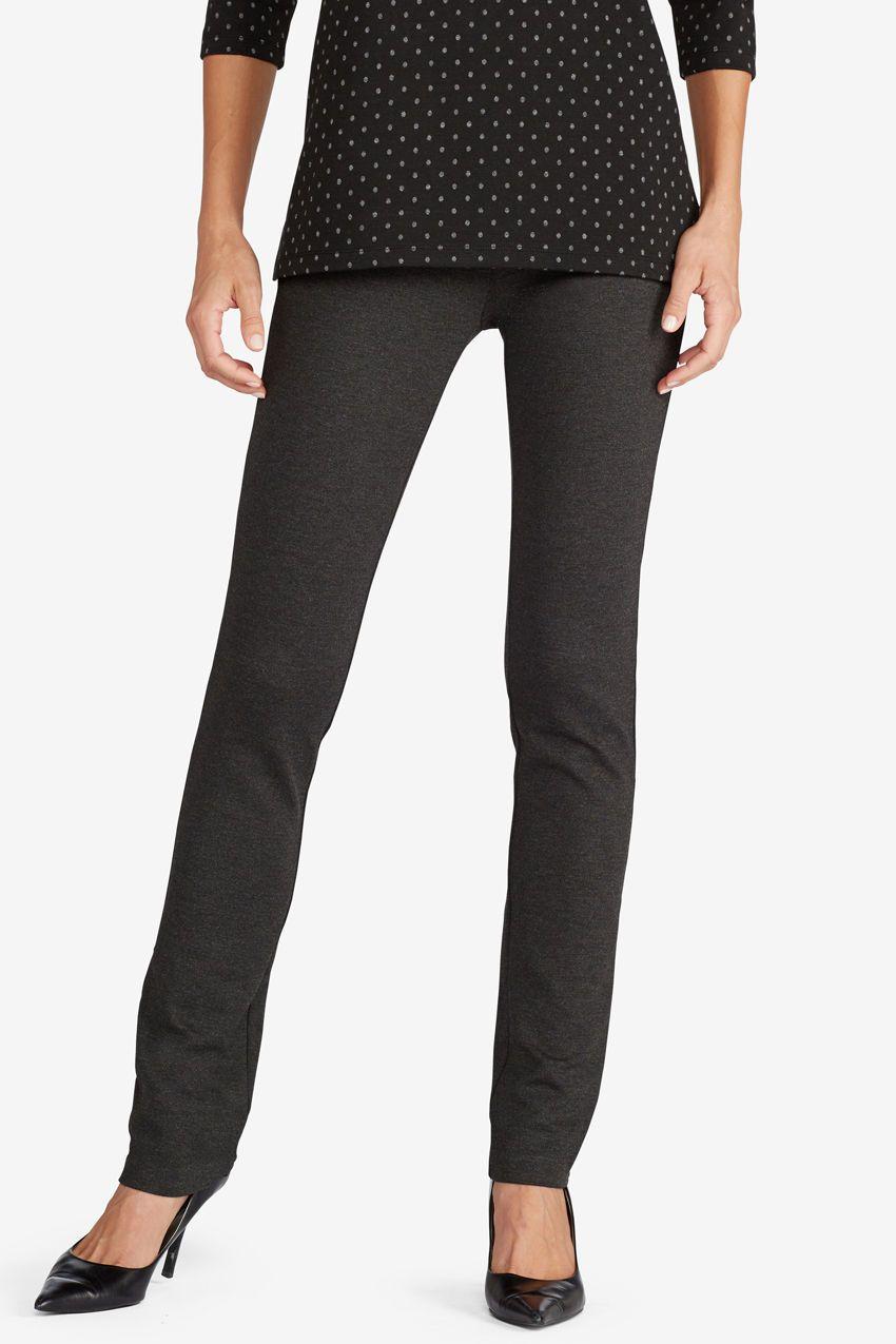b1dc5591dac762 Ponte Perfect Slim-Leg Leggings, Neo Navy   Clothing I like   Petite pants,  Petite dress pants, Skirt pants