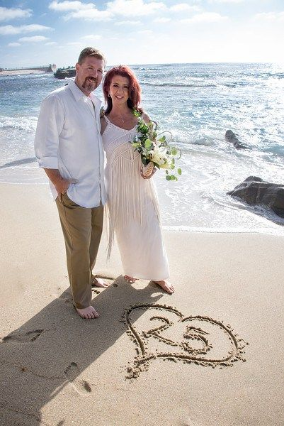 La jolla cove 25th wedding anniversary vow renewal at for Dress for wedding renewal ceremony