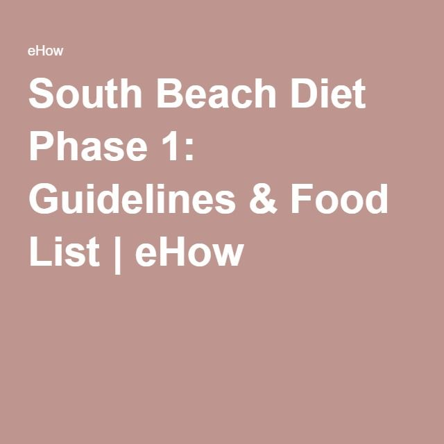 South Beach Diet Phase 1: Guidelines & Food List | eHow