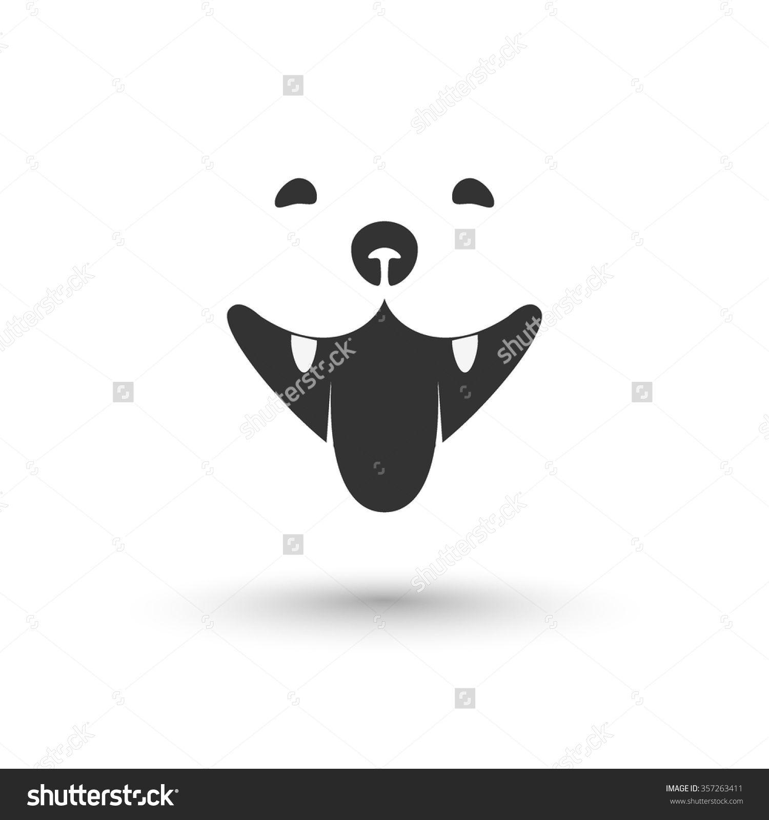 Dog head icon in vector. Vector element for label, logo or emblem design.