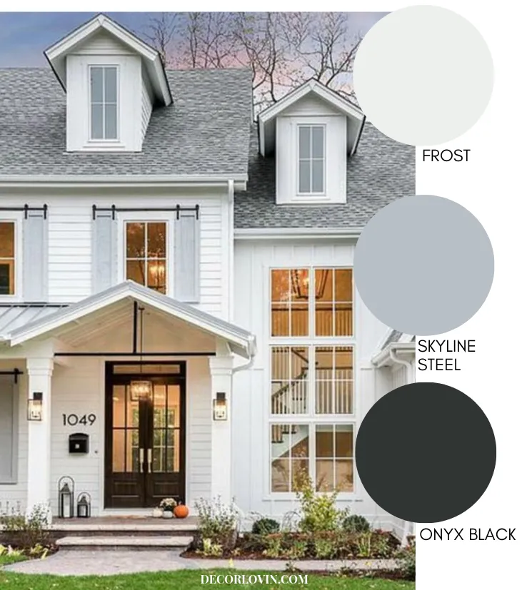 Exterior Home Painting Cost: Modern Farmhouse Style Exterior Paint Colors
