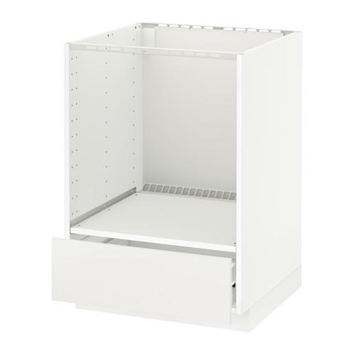 Metod Forvara Element Bas Pour Four Avec Tiroir Blanc Veddinge Gris 60x60 Cm Ikea Unterschrank Ikea Metod Unterschrank