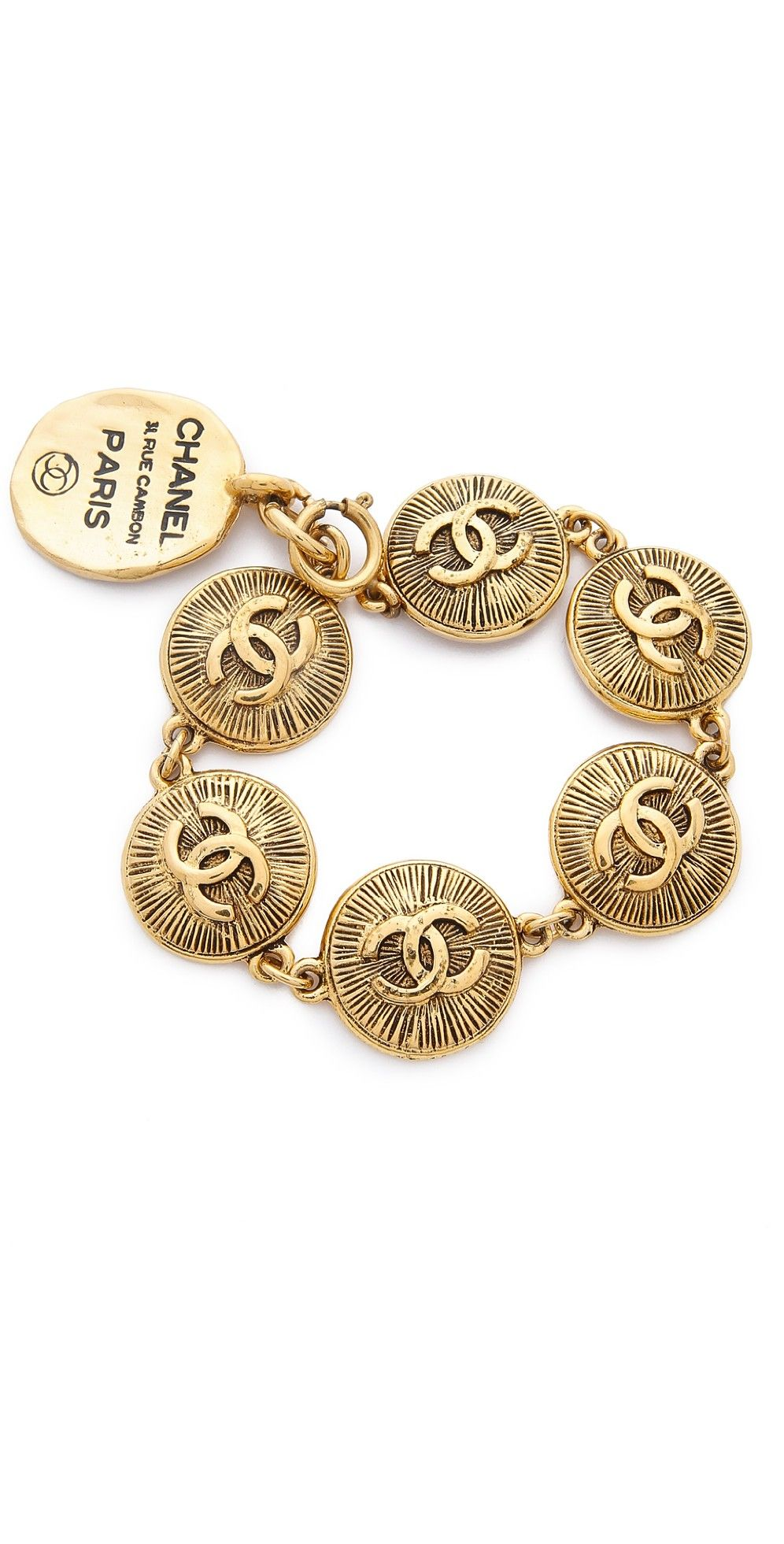 What Goes Around Comes Around Chanel Burst Coins Bracelet   SHOPBOP