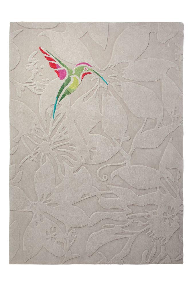 Colibri vloerkleed 200cm x 200cm bruin - Esprit