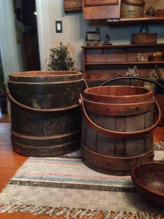 Antique Wood Holding Bin