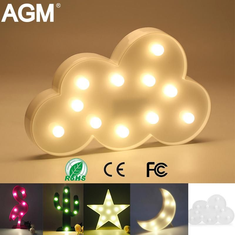 Led Night 3d Light In Different Shapes Colors