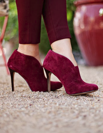 Burgundy Ankle Boots ❤♔Life, likes and style of Creole-Belle ♥