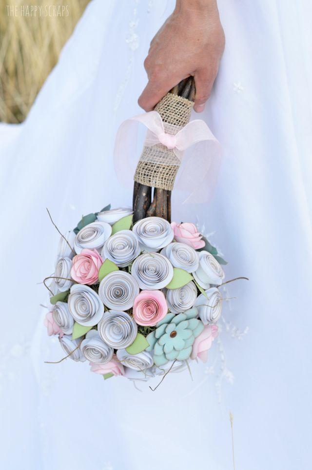 Diy Paper Bridal Bouquet Flower Bouquet Diy Paper Bouquet Diy