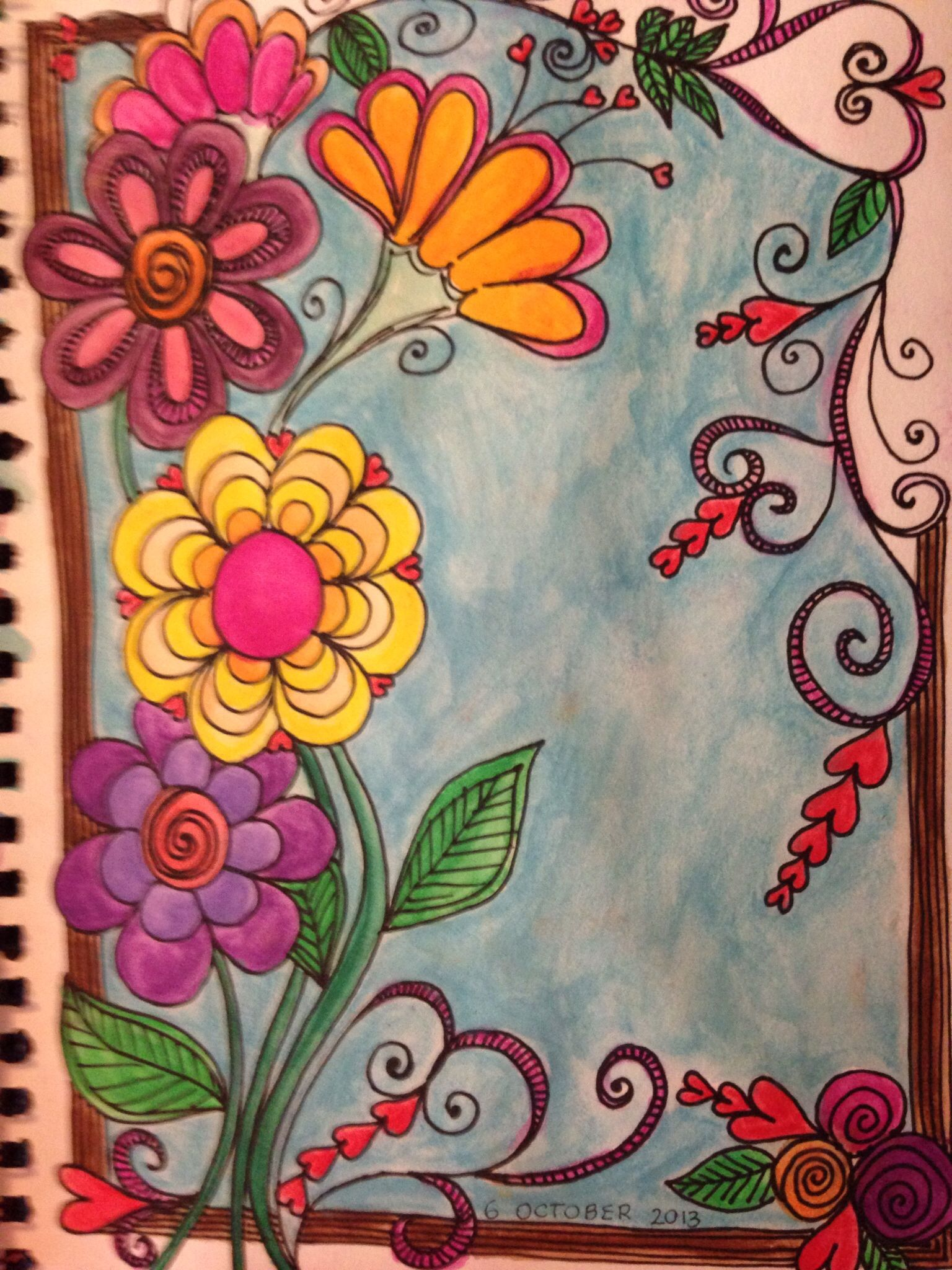 Doodle Flowers With Inktense Pencils