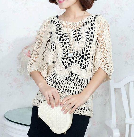 Pin de Au Vo en Crochet Shirts | Pinterest | Horca, Boho y Encaje de ...