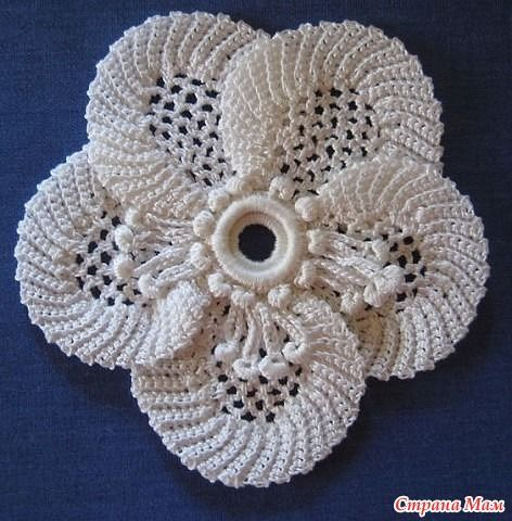 Irish crochet - flower / FREE pattern... ♥ Deniz ♥ | Irish ...