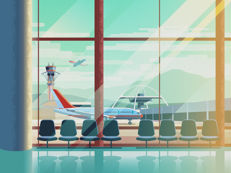 Airport Terminal Anime Scenery Wallpaper Anime Background Episode Backgrounds