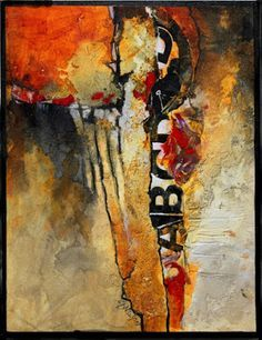 """Daily Painters Abstract Gallery: Mixed Media Abstract Art Painting """"Don't Think Twice"""" by Colorado Mixed Media Abstract Artist Carol Nelson"""