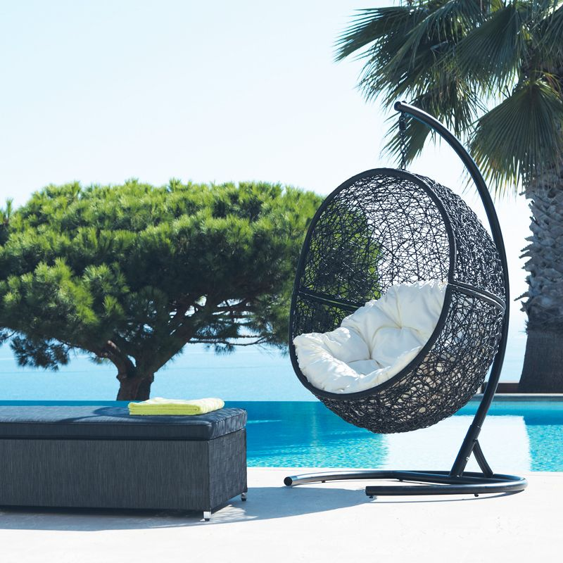 fauteuil suspendu cocon maisons du monde outdoor terrasse pinterest plus d 39 id es. Black Bedroom Furniture Sets. Home Design Ideas