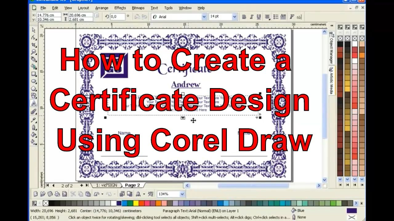 How to create a certificate design in coreldraw easily tutorials how to create a certificate design in coreldraw easily 1betcityfo Image collections