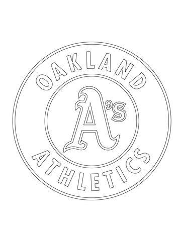 Oakland Raiders Coloring Pages Oakland athletics Logo