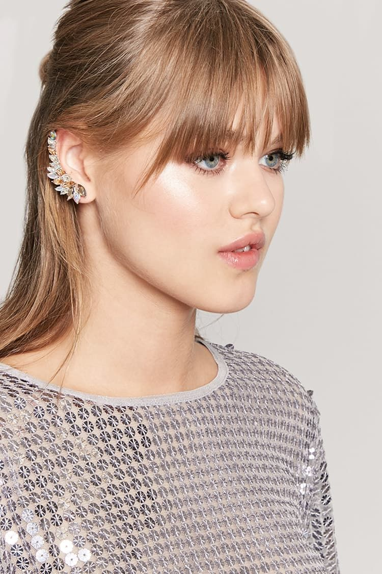 Product Name:Faux Gem Tassel Earrings, Category:ACC, Price