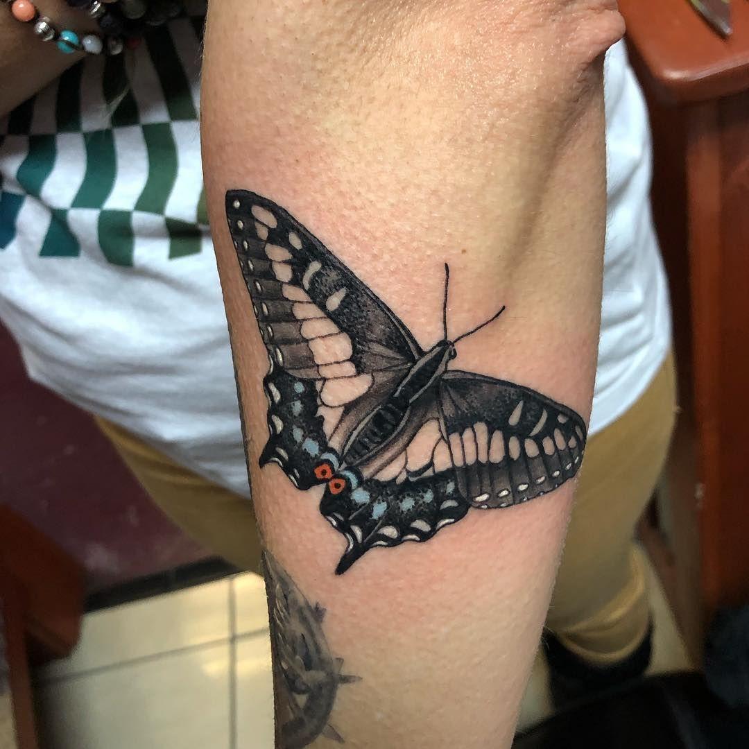 328df268e Black swallowtail! Man this makes me miss summer so much! Thank you Amy💖  #butterflytattoo #nature #blackswallowtail #michigansummer…