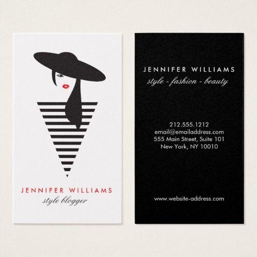 Elegant Glamour Mod Stylist Salon Blogger Business Card Zazzle Com Fashion Business Cards Cards Business Card Minimalist