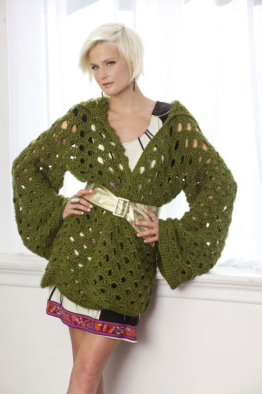 Penny Arcade Jacket By Vickie Howell - Free Crochet Pattern ...
