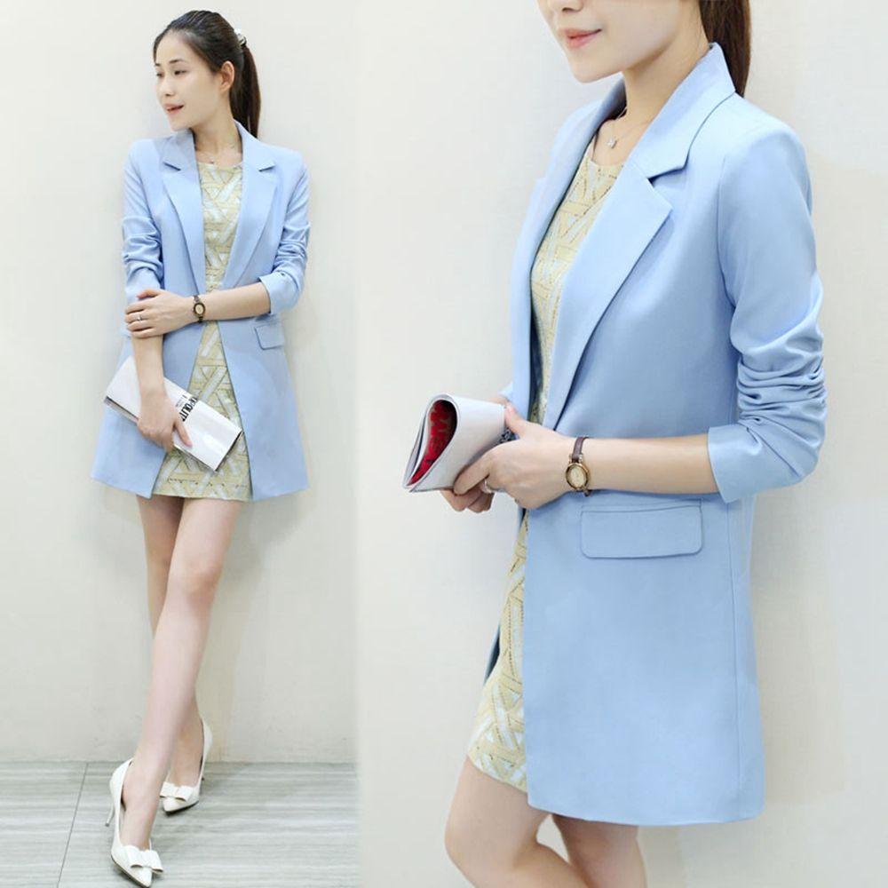 Formal Boss Lady Blazer Light Blue Suit Blazer Jackets For Women Jackets For Women