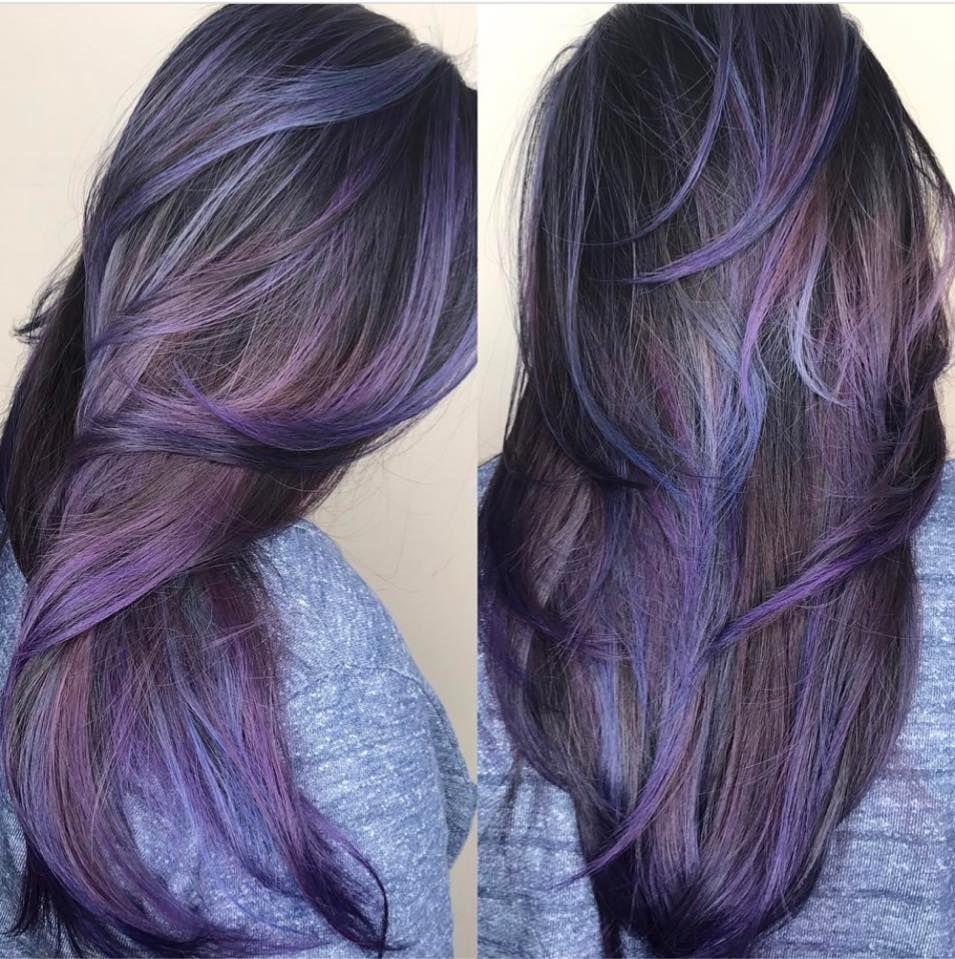 Purple Oil Slick Hair by Angel  hair  Pinterest  Oil slick hair