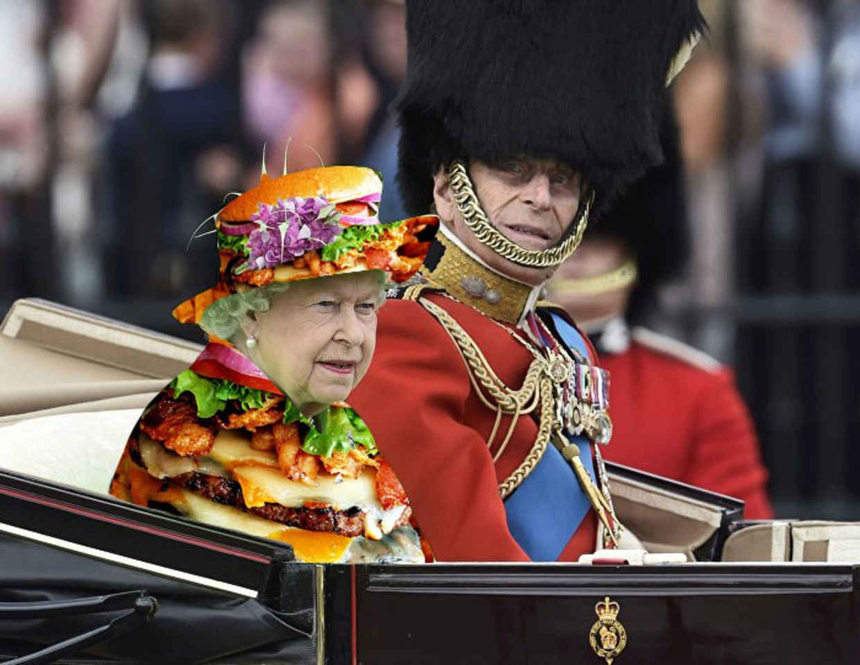 The Internet Reacted To The Queens Green Birthday Outfit In The Funniest Way Imaginable Neon Green Outfits Queen Meme Royal Costume [ 958 x 1240 Pixel ]