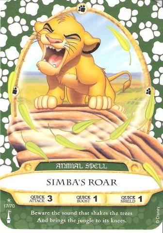 Sorcerer of the Magic Kingdom Simba/'s Roar card 17