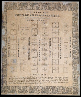 A Plan Of The Town Of Charlottesville By William Woods 1818 With Images University Of Virginia Charlottesville How To Plan
