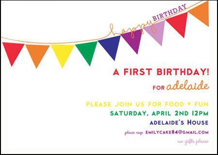 Rainbow 1st birthday party ideas Rainbow Party Ideas - first birthday invitations templates