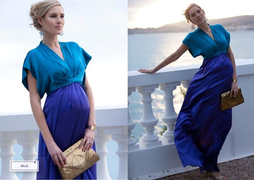 Celebrity Get The Look - Elizabeth Midi WEB Elizabeth Midi Maternity Dress