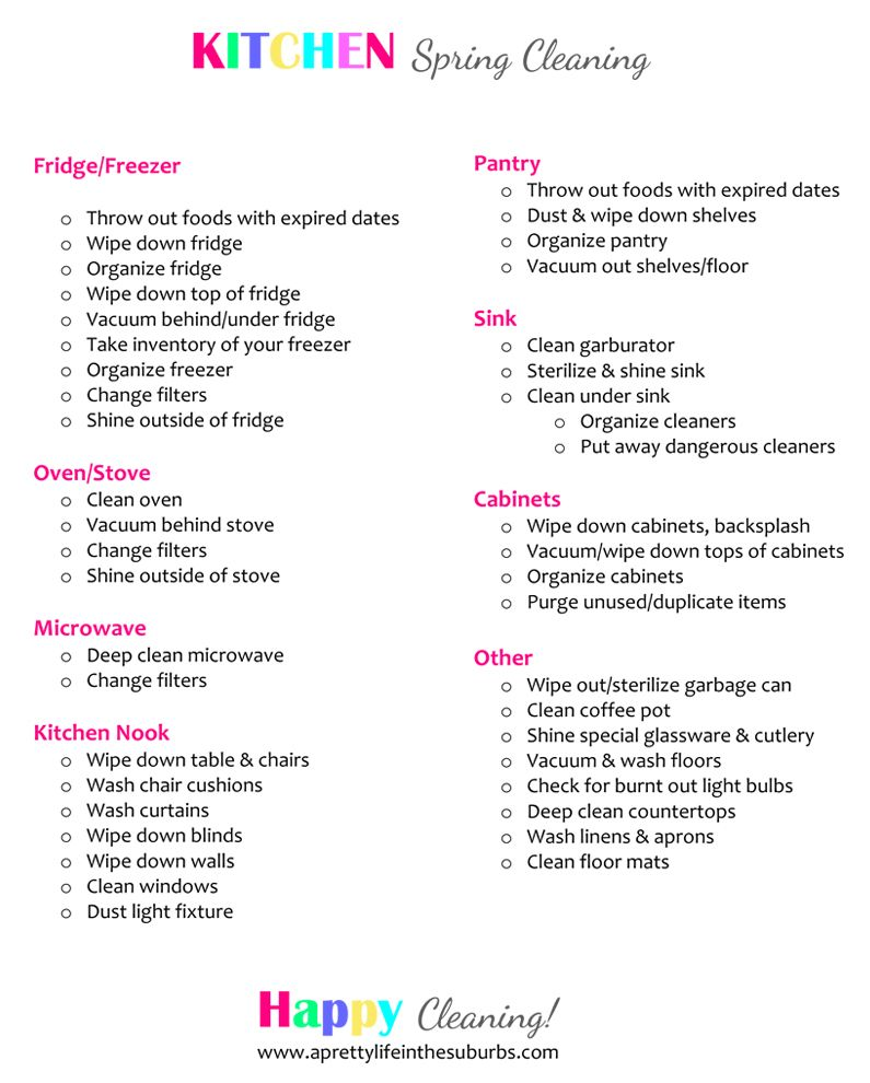 Spring Cleaning Tips & Checklist! | Back to, Back to school and ...