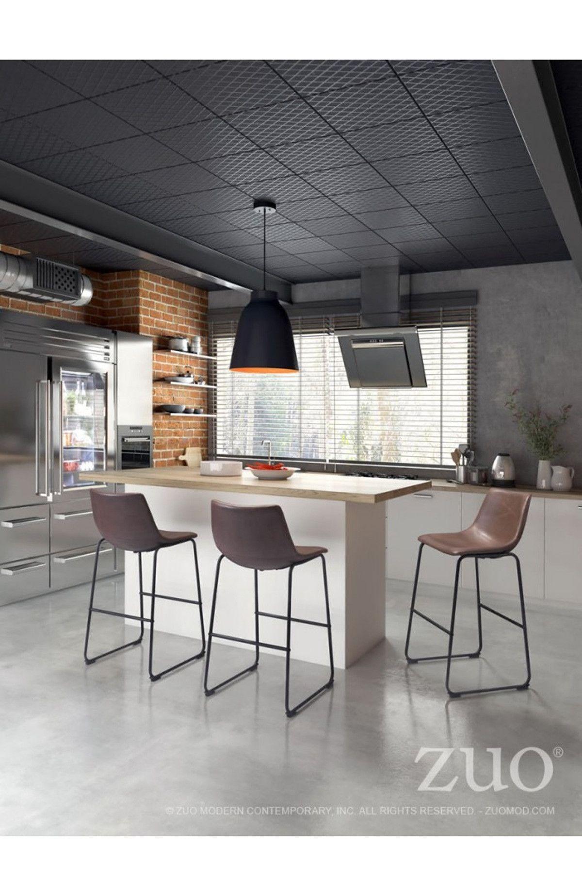 Zuo Modern Smart Bar Chair Vintage Espresso