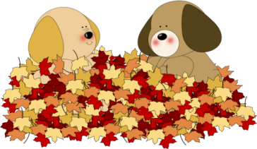 Dogs Playing In Leaves Clip Art Dogs Playing In Leaves Image Flower Drawing Dog Clip Art Clip Art