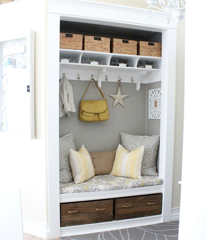 Tür Verstecken closet nook organize me closet nook mud rooms