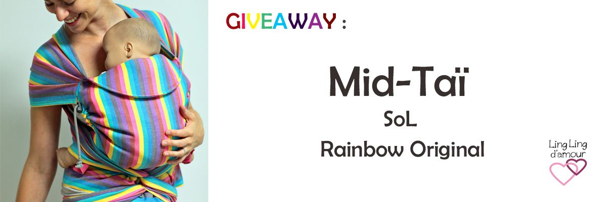 Giveaway Ici Http Www Echarpe Portebebe Linglingdamour Fr Content 32 Giveaway Midtai Sol Rainbow Original Echarpe De Portage Portage Bebe Porte Bébé