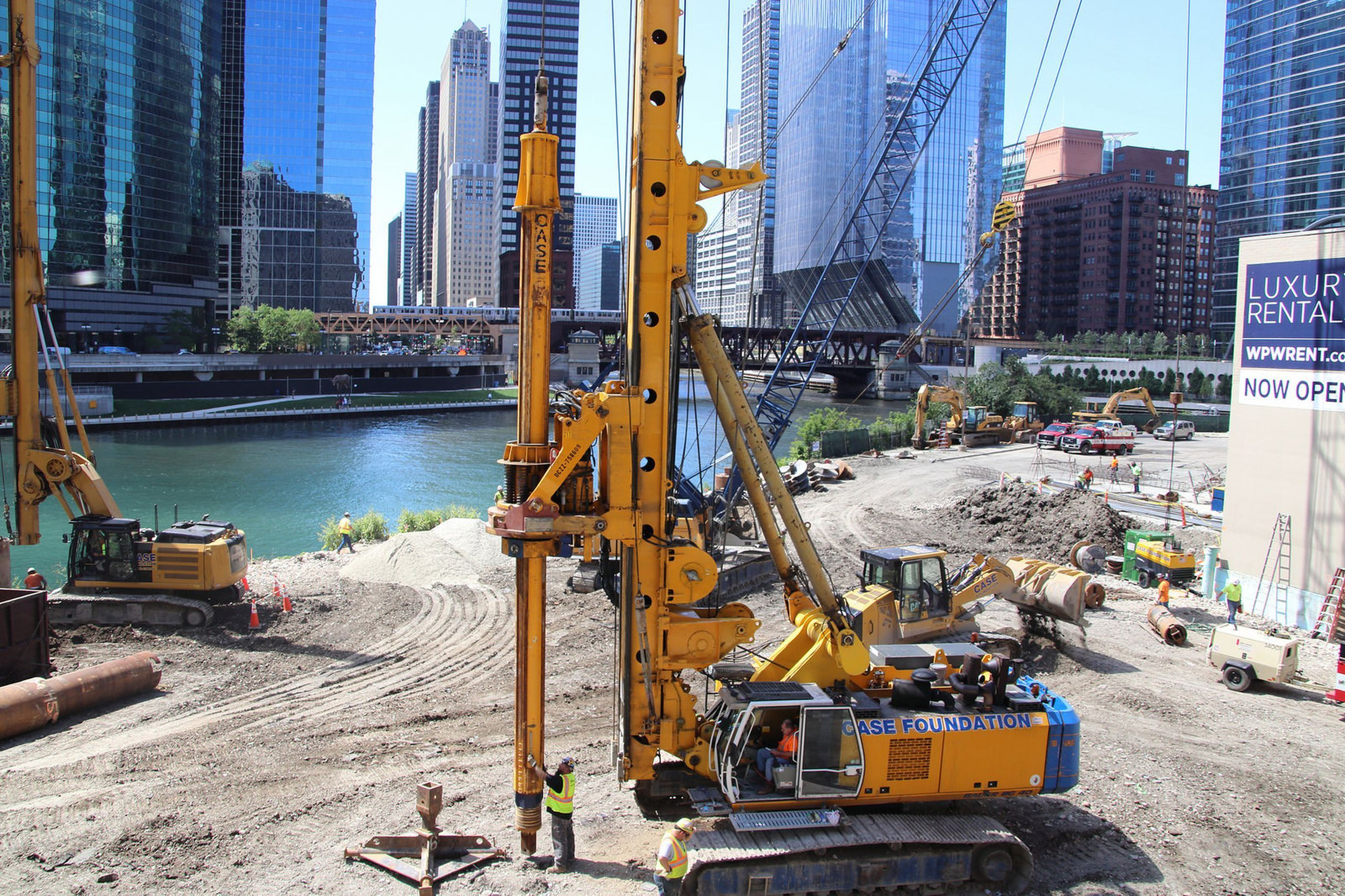 Foundation work starts for Wolf Point East tower | Chicago