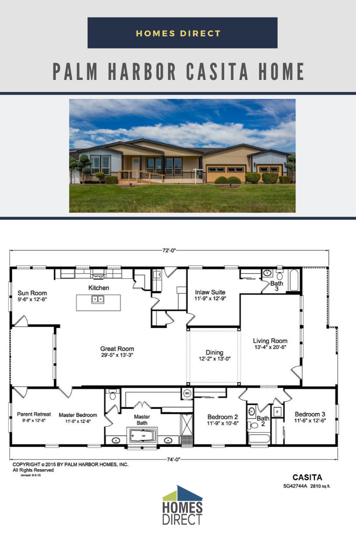 Casita Mobile Home Floor Plans Modern Style House Plans Palm Harbor Homes