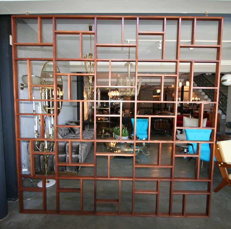 Custom Midcentury Style Geometric Room Divider screens and