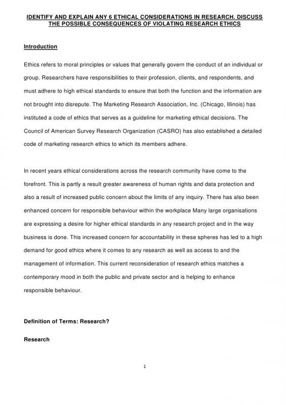 Example Grant Proposal Ethical Issues Ethics Moral Principle