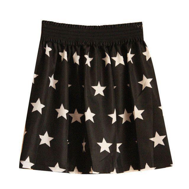 2017 Fashion 1 Pc Women Summer Vintage Chiffon Print Pleated High Waist Short Skirt
