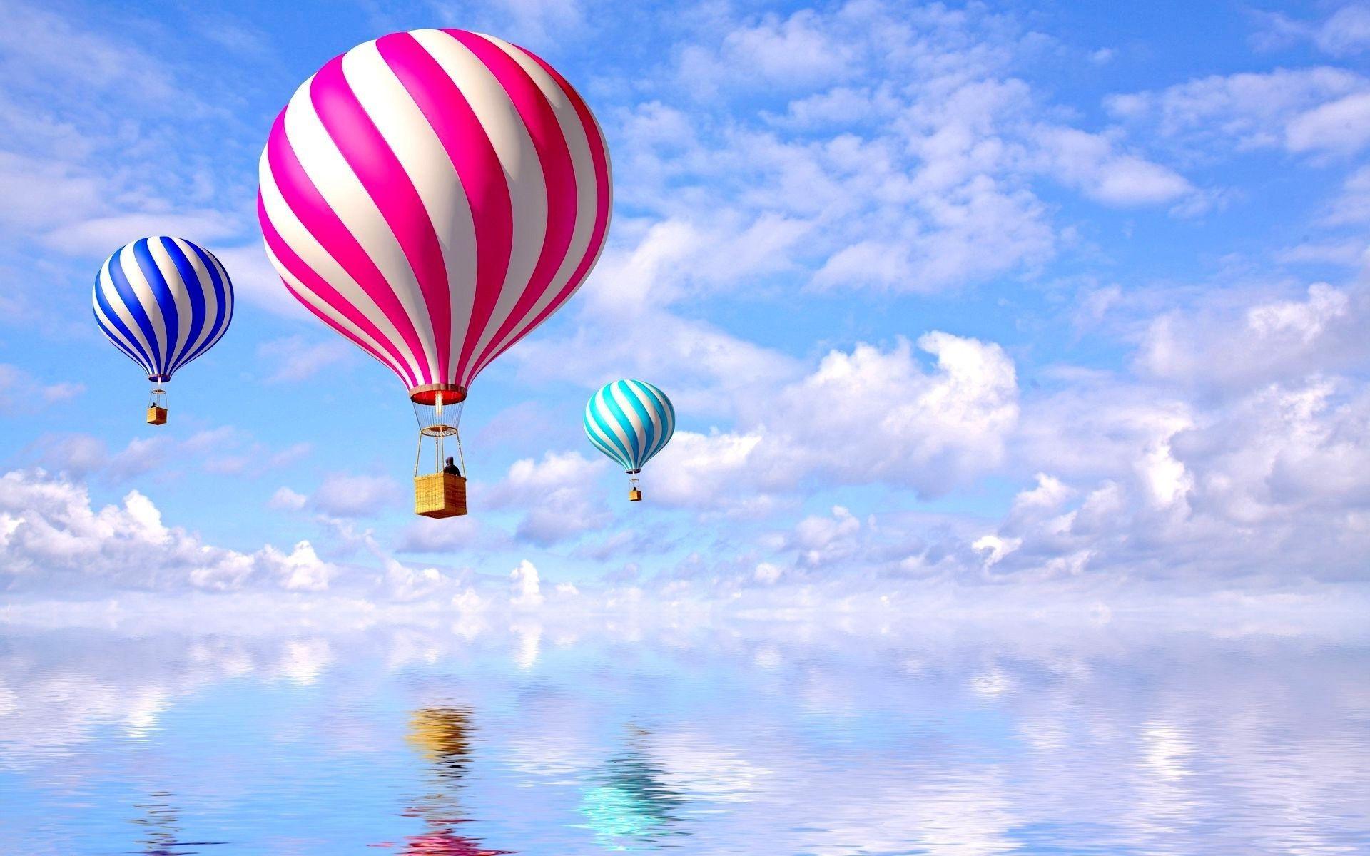 Colored Balloons Fond Ecran Montgolfieres Photos