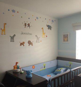 Paredes decoradas para el beb cuarto del beb pinterest - Habitaciones decoradas para bebes ...