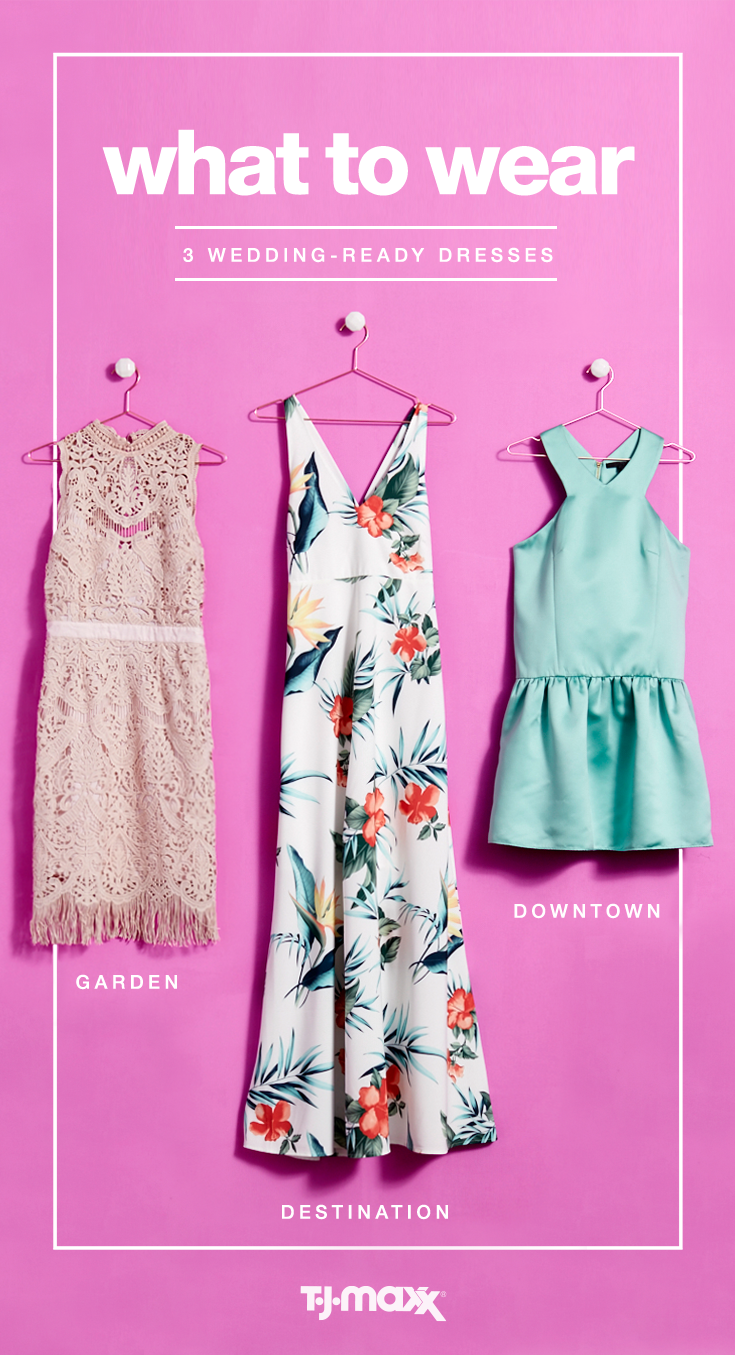 85b45ea8f4 If you made the guest list for more than one wedding this year, we have  your wardrobe cheat sheet. A floral maxi is the perfect destination dress  for a ...
